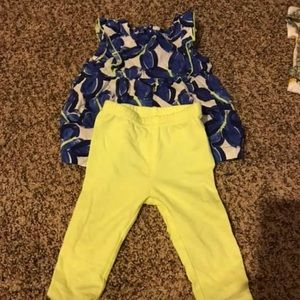 Blue and yellow Carters outfit! 6 month